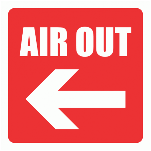 GAS11 - Air Out Sign