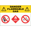 GAS26 - Danger Flammable Gas Sign