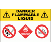 GAS20 - Danger Flammable Liquids Sign