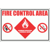 GAS27 - Fire Control Area - Flammable Liquids Sign