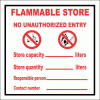 GAS17 - Flammable Store Sign