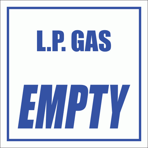GAS10 - L.P. Gas Empty Sign