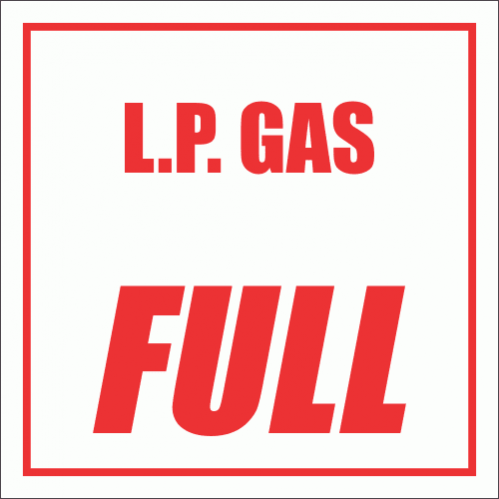 GAS9 - L.P. Gas Full Sign