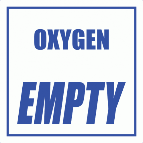 GAS6 - Oxygen Empty Sign