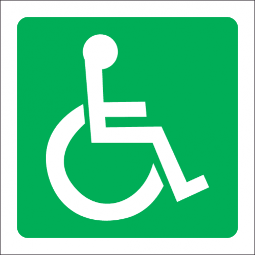 GA22 - SABS Wheel Chair Sign