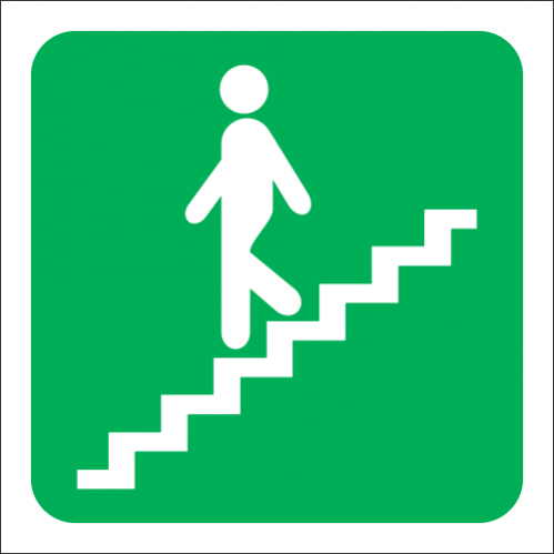 GA17L - SABS Stairs Going Down Left Sign