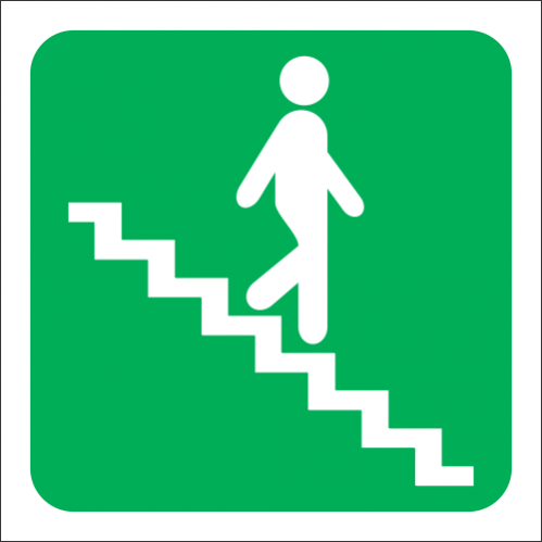 GA17R - SABS Stairs Going Down Right Sign