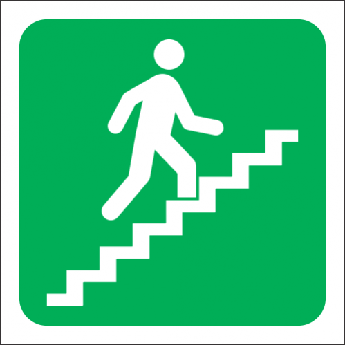 GA18R - SABS Stairs Going Up Right Sign
