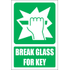 GA35E - Break Glass for Key Explanatory Safety Sign