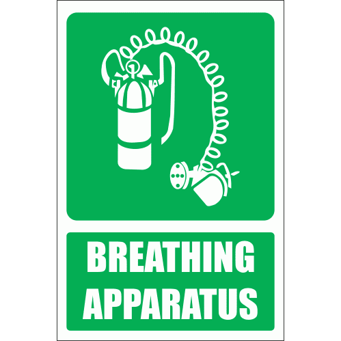 GA24E - Breathing Apparatus Explanatory Sign