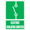 GA16E - Electric Isolator Switch Explanatory Sign