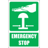 GA29E - Emergency Stop Explanatory Sign