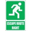 GA4E - Escape Route Right Explanatory Sign