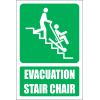 GA36 - Evacuation Stair Chair Explanatory Safety Sign