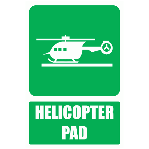 GA28E - Helicopter Pad Explanatory Sign