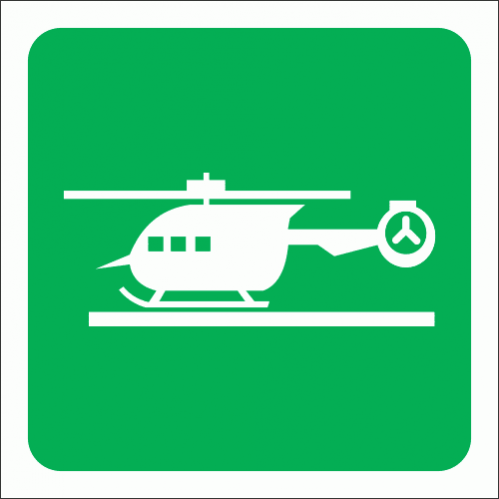 GA28 - Helicopter Pad Sign