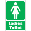 GA10E - Ladies Toilet Explanatory Sign