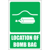 GA21E - Location Of Bomb Bag Explanatory Sign