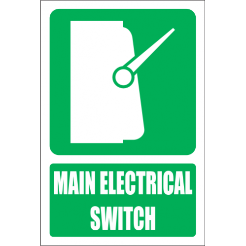 Main Electrical Switch Explanatory Safety Sign - GA34E