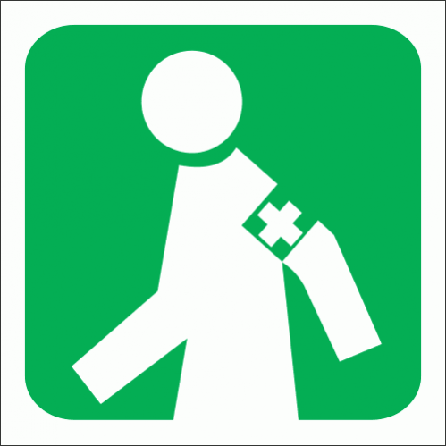 GA5 - Manned First Aid Station Sign