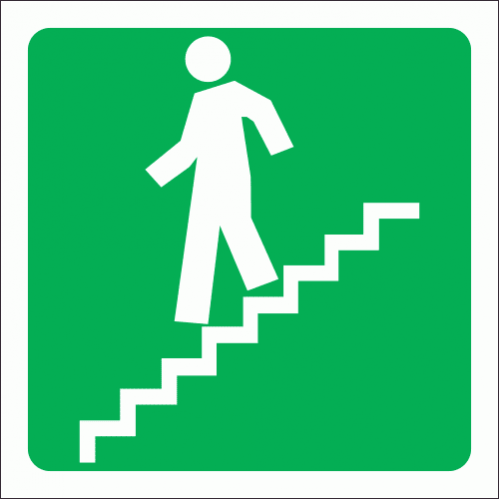 GA17 - Stairs Going Down Sign