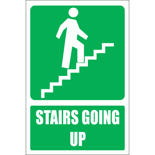 GA18E - Stairs Going Up Explanatory Sign