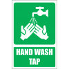 GA27E - Tap For Washing Hands Explanatory Sign
