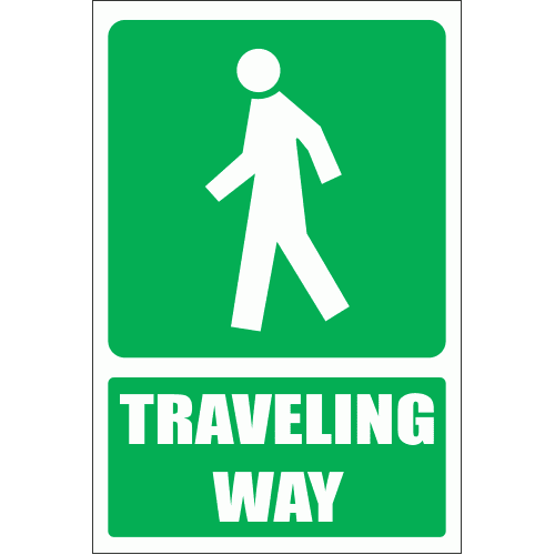 GA8E - Traveling Way Explanatory Sign