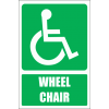 GA22E - Wheel Chair Explanatory Sign
