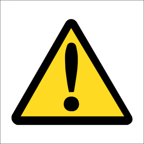 WW43 - SABS High Caution Safety Sign