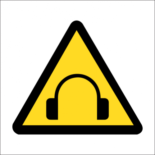 WW45 - SABS High Noise Levels Safety Sign