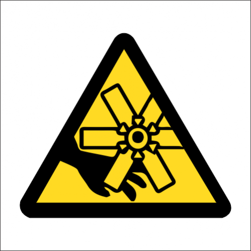 WW40 - SABS Rotating Blades / Fan Safety Sign