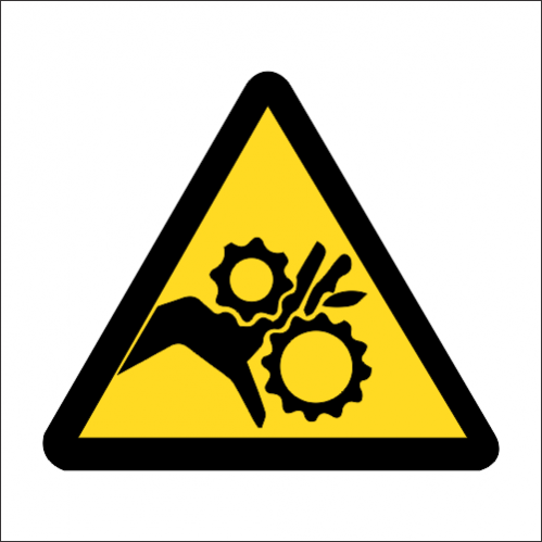 WW39 - SABS Rotating Parts Safety Sign