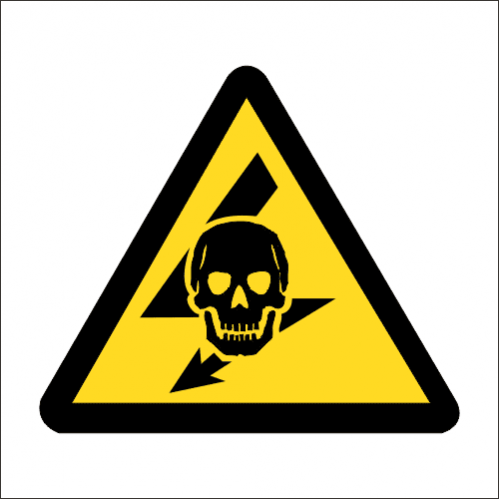 WW23 - SABS Exposed Live Safety Sign