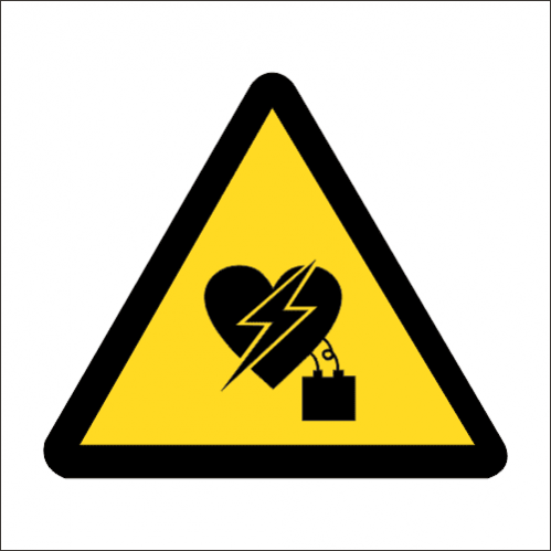 WW27 - SABS Electromagnetic Interference On Pacemaker Safety Sign