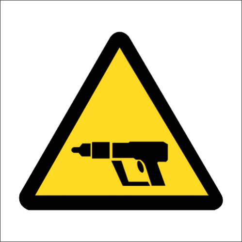 WW31 - SABS Nail gun Safety Sign