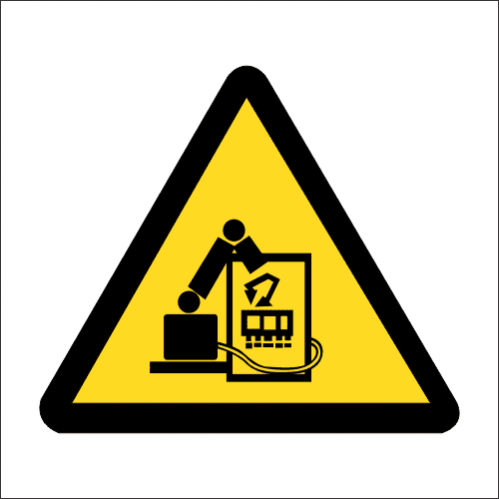 WW34 - SABS Robotics Process Automation Safety Sign