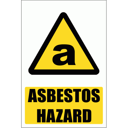 WW13E - Asbestos Hazard Explanatory Safety Sign