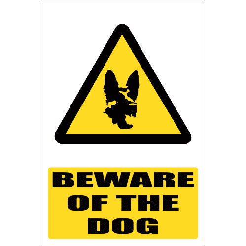 WW19E - Beware Of The Dog Explanatory Safety Sign