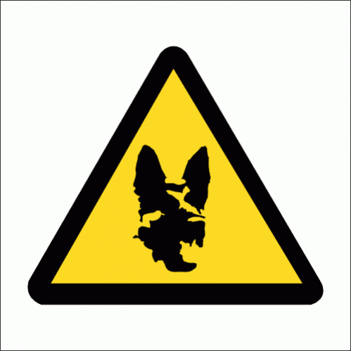 WW19 - Beware Of The Dog Safety Sign