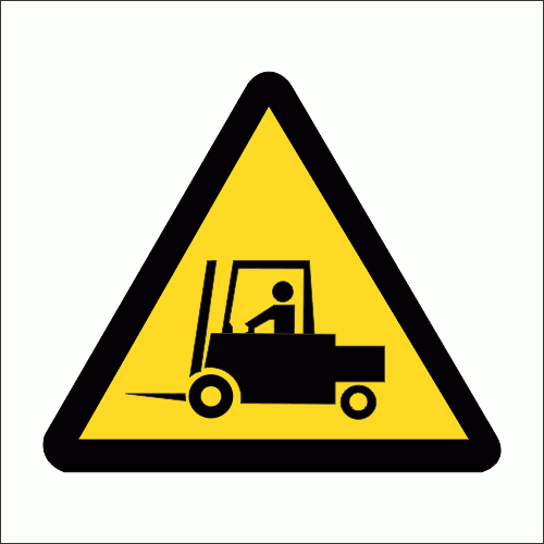 WW20 - Beware Of Forklifts Safety Sign