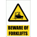 WW20E - Beware Of Forklifts Explanatory Safety Sign