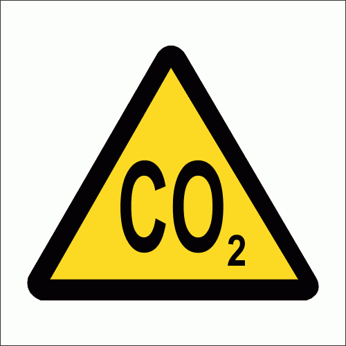 WW15 - Carbon Dioxide Safety Sign
