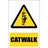 WW35E - Catwalk Explanatory Safety Sign
