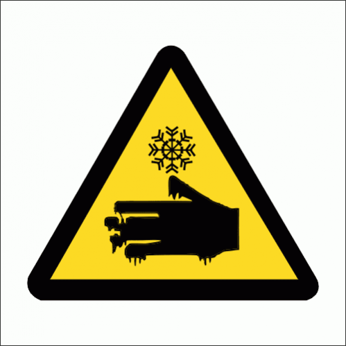 WW18 - Cold Burns Safety Sign