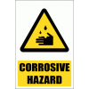 WW4E - Corrosive Hazard Explanatory Safety Sign