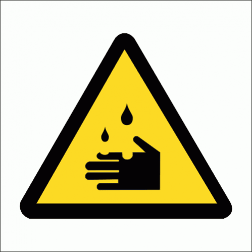 WW4 - Corrosive Hazard Safety Sign