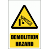 WW32E - Demolition Area Explanatory Safety Sign