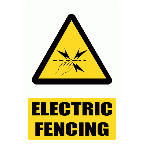 WW29E - Electric Fence Explanatory Safety Sign