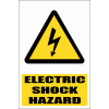 WW7E - Electric Shock Hazard Explanatory Safety Sign